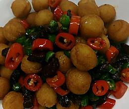 土豆炒脆哨的做法