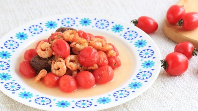 桂花话梅番茄北极虾的做法
