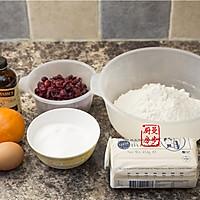 【曼步厨房】蔓越莓曲奇饼干的做法图解1