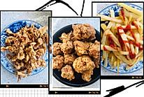 蒜香炸鸡小吃组合的做法