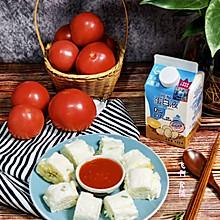 #蛋趣体验#蛋白玉子烧配自制番茄酱换一种风格吃番茄炒蛋