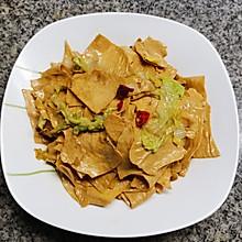 黄叶白菜炒豆腐皮