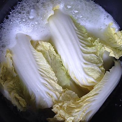 大喜大牛肉粉试用之白菜豆腐汤的做法 步骤2