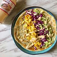 #植物蛋 美味尝鲜记#JUST蛋蔬菜沙拉手抓饼的做法图解6