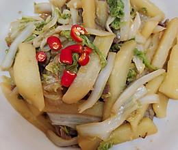 白菜炖土豆条的做法
