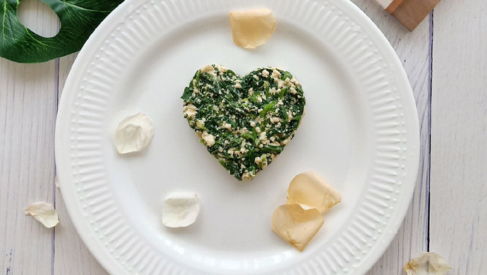 芝麻豆腐拌菠菜--复刻《昨日的美食》