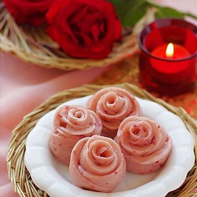 中式面点也浪漫 —— 情人节专供的浪漫玫瑰小花卷