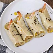 焦香爆汁的鲜虾煎饺