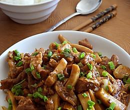 杏鲍菇炒牛肉的做法