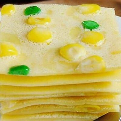 清香怡人——鸡蛋玉米豌豆饼