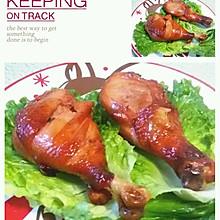 叉烧肉。烤鸡腿同样的方法步骤