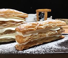 拿破仑手抓饼千层酥,仿制浪漫法式甜品,一口酥脆,一口满足。的做法