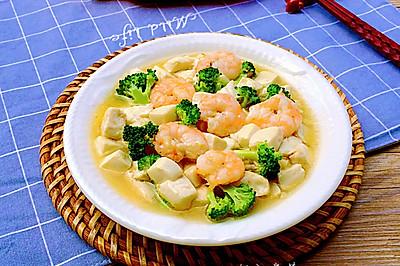 鲜嫩虾仁豆腐