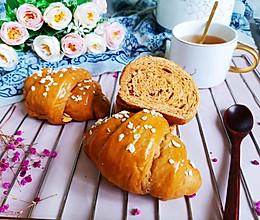 红糖红枣面包卷的做法