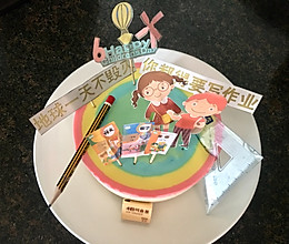 缤纷彩虹慕斯蛋糕——六一快乐的做法