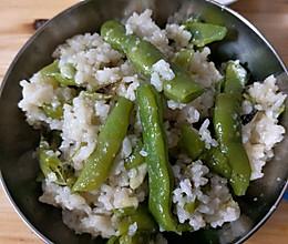 四季豆闷饭的做法