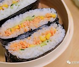 三文鱼包饭 宝宝辅食食谱的做法