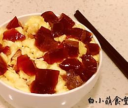 《食戟之灵》--生蛋拌饭(肉冻鸡蛋盖饭)的做法