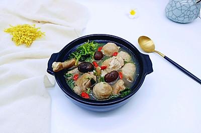 香菇贡丸鸡汤