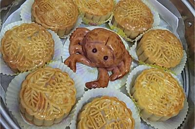 双黄莲蓉螃蟹月饼(100g/9个)