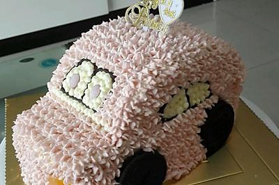 不用色素的汽车蛋糕