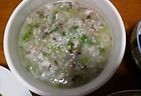 青菜香菇肉粥的做法