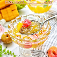 天气这么热,来一杯水果西米果冻#童年不同样,美食有花样#