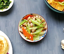 凉拌芹菜花生米(家常小咸菜系列四)的做法