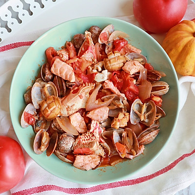 至尊茄汁烩海鲜
