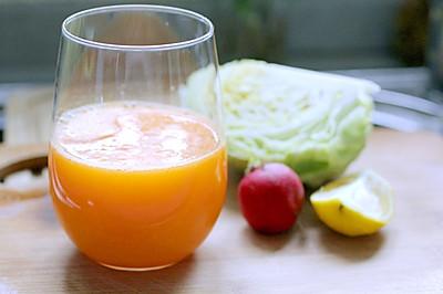 卷心菜橙综合蔬果汁