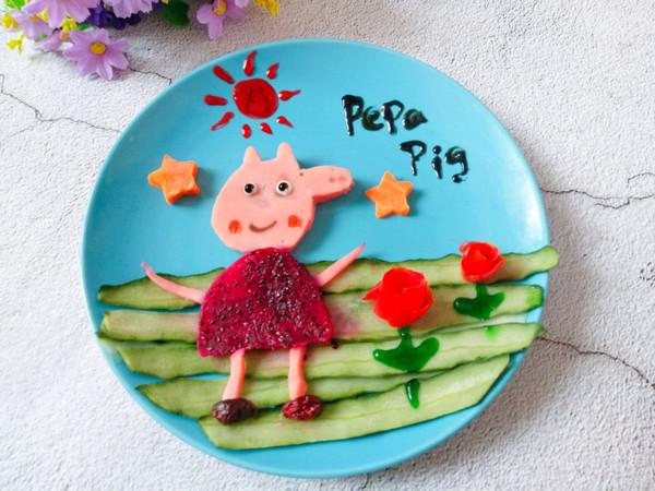 #精品菜谱挑战赛#可爱小猪佩奇水果拼盘的做法
