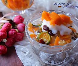 鲜奶水果冰沙的做法
