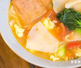 饺子皮面片汤丨快手早餐的做法