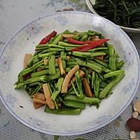 空心菜杆炒火腿