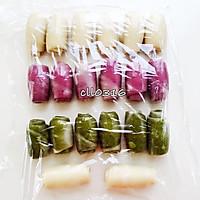 紫薯 抹茶 原味(豆沙酥)玉米油版的做法图解11