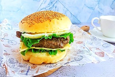 #花10分钟,做一道菜!#牛肉汉堡