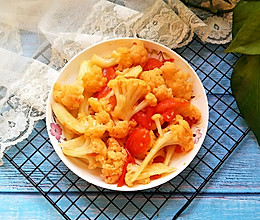 #换着花样吃早餐#番茄炒菜花的做法