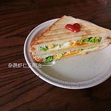 #麦子厨房早餐机#制作杂蔬虾仁三明治