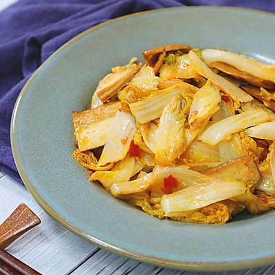 豆瓣香干炒白菜,没有肉也能做得超下饭!