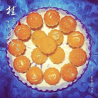 水晶南瓜冰皮月饼  #炒鸡简单!!!Q弹不粘牙hiahia