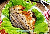 在家也可以做出铁板烧的好味道----黑胡椒煎鲳鱼的做法