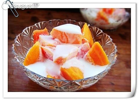 木瓜酸奶的做法