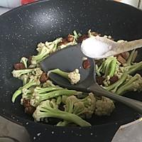 干锅花菜#春天不减肥,夏天肉堆堆#的做法图解7