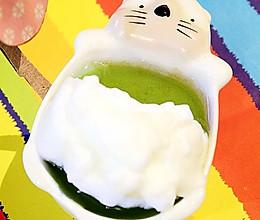 抹茶奶泡布丁的做法