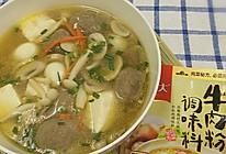 之菌菇牛肉丸汤#大喜大牛肉粉试用#的做法