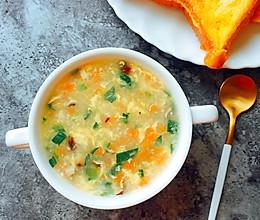 鲜虾蔬菜疙瘩汤的做法
