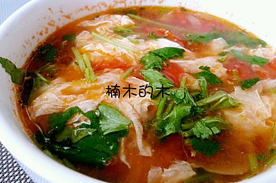 蕃茄鸡蛋汤(西红柿,番茄)~让一个鸡蛋看起来满满的大厨秘籍