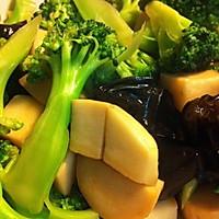 蚝油西兰花杏鲍菇木耳