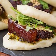 【台湾刈包】咦?长得像肉夹馍,口感似肉包子!
