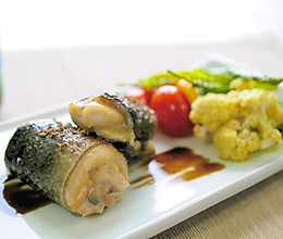 烤味噌虱目魚卷的做法